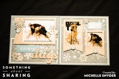 Click here for CTMH Artbooking Cricut Cartridge to make these Snow Days Scrapbook Pages easy and fun. One key has everything scaled to fit perfectly.   http://michelle.ctmh.com/Retail/Product.aspx?ItemID=7387&CatalogID=1740 #SomethingAboutSharing  #WinterScrapbooking