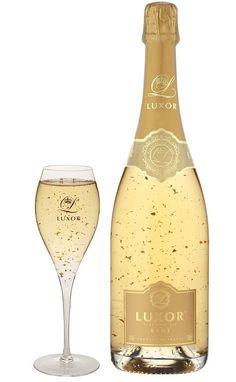 WEB LUXO - Bebidas: LUXOR, Champagne de puro ouro 24 K