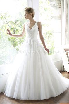 Glamorous V-neck Wedding Dresses China Moonlight H1213 Spring 2013