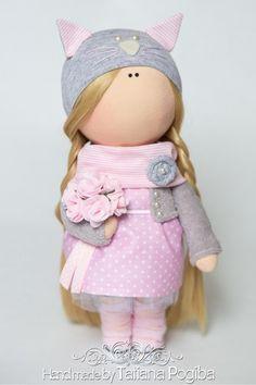 Коллекционные куклы ручной работы. Ярмарка Мастеров - ручная работа. Купить Киса. Handmade. Интерьерная кукла,…
