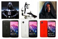 Each google nexus 5 represent a star wars character!