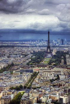 """""""Rainy Paris"""" by Lex Schmidt, via 500px."""
