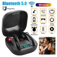 PowerHBQ PRO Sport Earbuds Bluetooth TWS Totally Wireless Earphone in Ear - Wireless Headphones - Ideas of Wireless Headphones Iphone Bluetooth, Wireless Headphones, Best Noise Cancelling Earbuds, Ear Cap, Sport Earbuds, Ipod Nano, Headset, Baby Car Seats, Mini