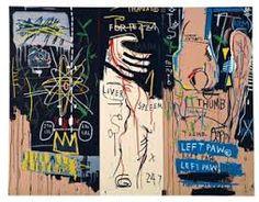 Jean-Michel Basquiat Catharsis 1983 triptych, acrylic on canvas, x inches [Phillips de Pury Keith Haring, Jean Michel Basquiat Art, Jm Basquiat, Jasper Johns, Robert Rauschenberg, Josef Albers, Jackson Pollock, Roy Lichtenstein, Andy Warhol