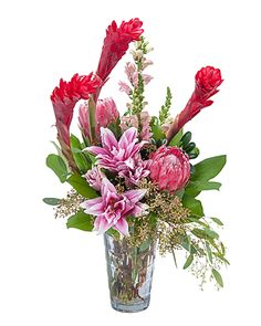 62600b5fea49 Exotic Beauty Flower Arrangement Vase Arrangements