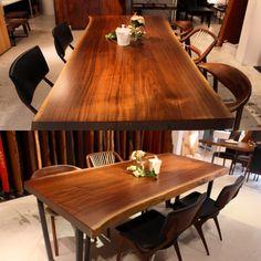 ウォールナット一枚板 Walnut Table #アトリエ木馬#木馬#関家具 #一枚板#ウォールナット#無垢材 #テーブル#ダイニング#リビング #椅子#チェアー#家具屋#家具#インテリア #新築#新居#カウンター#内装 #wood#woods#woodshop#woodslab#woodtable#woodfurniture#woodworking#furniture#liveedge#chair#ateliermokuba#walnut