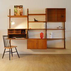 Bibliothèque – Bureau modulable Poul Cadovius 1957′