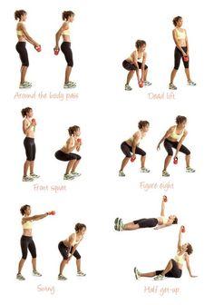 Workout Exercises : Kettlebell exercises for women