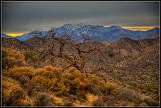 The eastern sierra mountain ranges