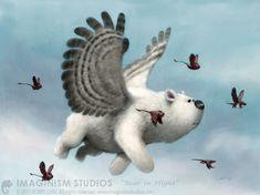 Bear in flight by imaginism on deviantART