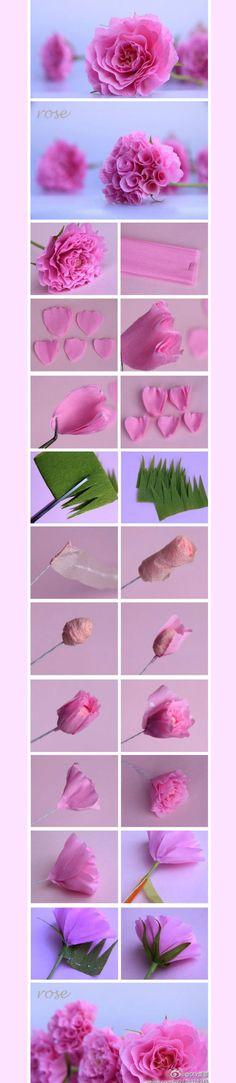 trandafiri hartie tutorial