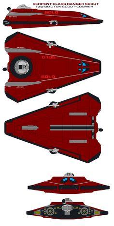Serpent Class Ranger T20 100 dton Scout-Courier by bagera3005.deviantart.com on @DeviantArt