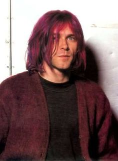 Kurt Cobain Purple Hair Kurt cobain re