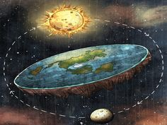 Why Is the Earth Flat Not Round Pouted Online Magazine Latest Design Trends Creative Decorating Ideas Stylish Interior Designs Gift Ideas Flat Earth Society, Birmingham, Terre Plate, Flat Earth Proof, Round Earth, Plakat Design, Creepy, Latest Design Trends, Creative Decor
