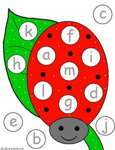This download is a ladybug letter match that is great for letter recognition and review. Just print the mats and letter circles on cardstock paper and laminate. Children put the letter circles on the matching letters on the ladybug mats. With this activity children can do: