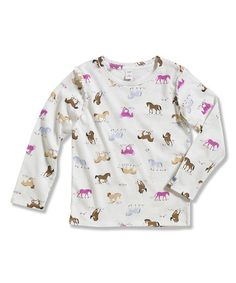 Another great find on #zulily! Cream Forest Pals Long-Sleeve Tee - Toddler #zulilyfinds