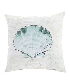 Look at this Aloe Seashell Throw Pillow on #zulily today!