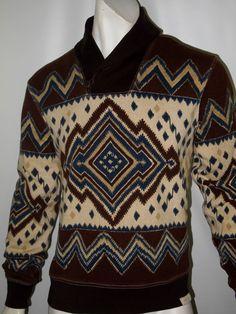 Denim & Supply Ralph Lauren shawl collar pullover southwestern print size medium #DenimSupplyRalphLauren #Hoodie