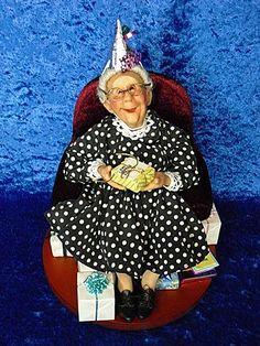 Nana's 90th Birthday Richard Simmons Doll 1st Edition with Miniature M.I. Hummel Figurine