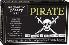 Magnetic Poetry - Pirate Kit - Words for Refrigerator - W...