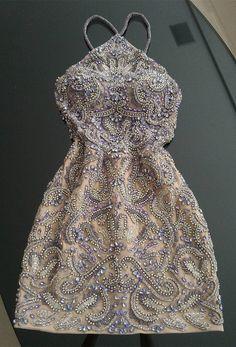 sparkle halter short prom dresses, tight semi formal party dresses, #beaded #dresses