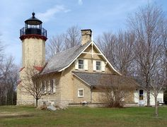 McGulpin Point Light House ~constructed as a navigational aid through the Straits of Mackinac. The light began operation in 1869, making it one of the oldest surviving lighthouses in the Straits. Mackinaw City, MI  google search