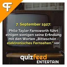 """Philo Taylor Farnsworth führt einigen wenigen seine Erfindung mit den Worten """"Bitteschön - elektronisches Fernsehen."""" vor.  #fernsehen #tv #erfindung #jubiläum #technik #schlau #elektronik #unterhaltung #filme #sensation #beste #wissen #idee"""