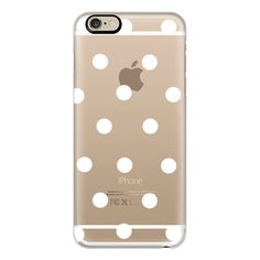 iPhone 6 Plus/6/5/5s/5c Case - White polka dots (551.450 IDR) ❤ liked on Polyvore