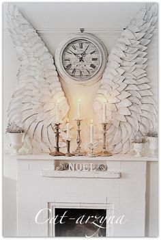 Large Angel Wings made out of paper plates!! Isn't this beautiful?!