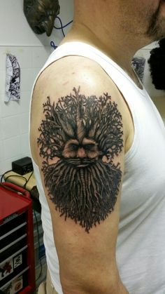 Green Man Tattoo By Me