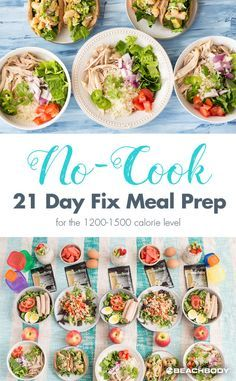 No Cook 21 Day Fix Meal Prep
