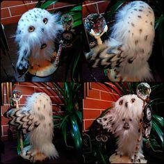 Anna Magic Owl Flower (@magic.owl) в Instagram: «Добрый Маг - Шанта. Рост 27см, ширина 24/15см. Крылья подвижны, сгибаются на кроволочном каркасе,…»