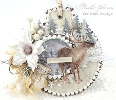 My Little Craft Things: Pion Design - Merry Christmas Ornament Card