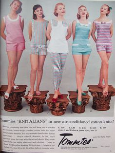 1950s Casual Clothing, 1950s Fashion, Vintage Fashion, Fashion Advertising, Lounge Wear, Cool Style, Vintage Outfits, Casual Outfits, Vintage Ads