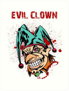 Scary killer clown | Unisex T-Shirt | Clowns and People