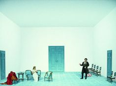 Le Nozzi di Figaro from Bayerische Staatsoper. Production by Dieter Dorn. Sets and costumes by Jürgen Rose.