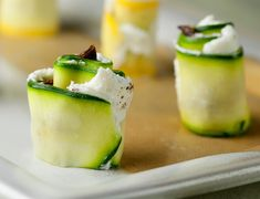 Goat Cheese Summer Squash Sushi - Framed Cooks