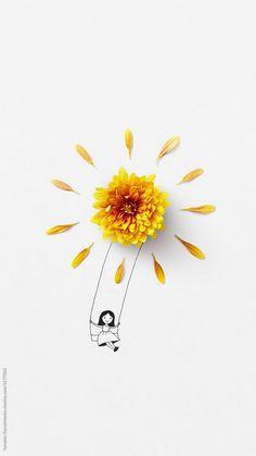 Flower Background Wallpaper, Flower Phone Wallpaper, Flower Backgrounds, Arte Peculiar, Imagination Art, Couple Wallpaper, Girl Sketch, Arte Floral, Pretty Wallpapers