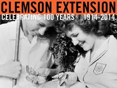 Boy and girl with butterflies during a 4-H entomology project. Photo courtesy of Clemson University Library Archives. #ClemsonExt100