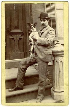 Vintage Dog Cabinet Card Photograph
