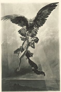 F. Kirchbach (egraving after), (1892) - The rape of Ganymede