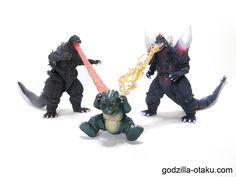 Something is wrong (Godzilla 1995 Birth Version, Little Godzilla, and Space Godzilla)