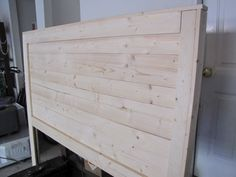 """""""Reclaimed Wood Headboard"""" with missing top trim which gives it a cleaner look."""