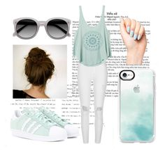 """""""Mint Green 3"""" by mihaela034429 on Polyvore featuring River Island, RVCA, adidas Originals, Casetify and Ace"""