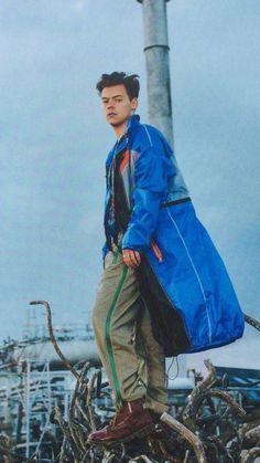 He looks like he's wearing a tent