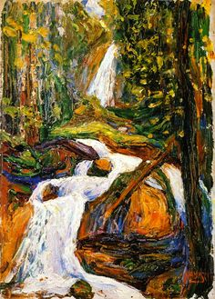 Kochel - Waterfall I Wassily Kandinsky - circa...