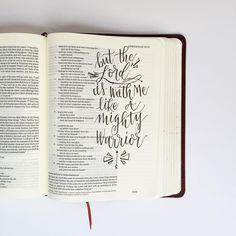 """J E R E M I A H 20:11  but the Lord is with me like a mighty warrior  #sharegoodness #goodnewsfeed"""