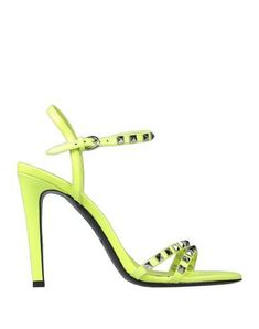 Ash Sandals In Yellow Ash Shoes, World Of Fashion, Luxury Branding, Soft Leather, Stiletto Heels, Studs, Shoes Sandals, Yellow, Colour