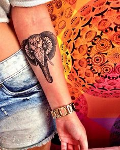 elephant tattoo #ink #girly #tattoos #YouQueen