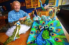 Joe Edwards Plans A Peacock-Inspired Café For the Delmar Loop | Relish ...check out the Duke of Delmar in all his peacock glory. I've been wondering if there will be wallpaper like his shirt anywhere in it.